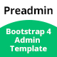 Preadmin - Bootstrap 4 Admin Template - ThemeForest Item for Sale