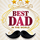 Best Dad /  Happy Fathers Day Flyer - GraphicRiver Item for Sale