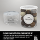 Clear Cans with Pull tabs and Clear Lids Packaging Mockup - GraphicRiver Item for Sale