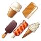 Set of Ice Cream Isolated on White Background