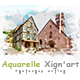Aquarelle Xign'art | PS Action - GraphicRiver Item for Sale
