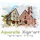 Aquarelle Xign'art | PS Action
