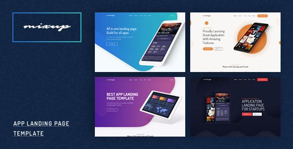 Mixup – App Landing Page PSD Template