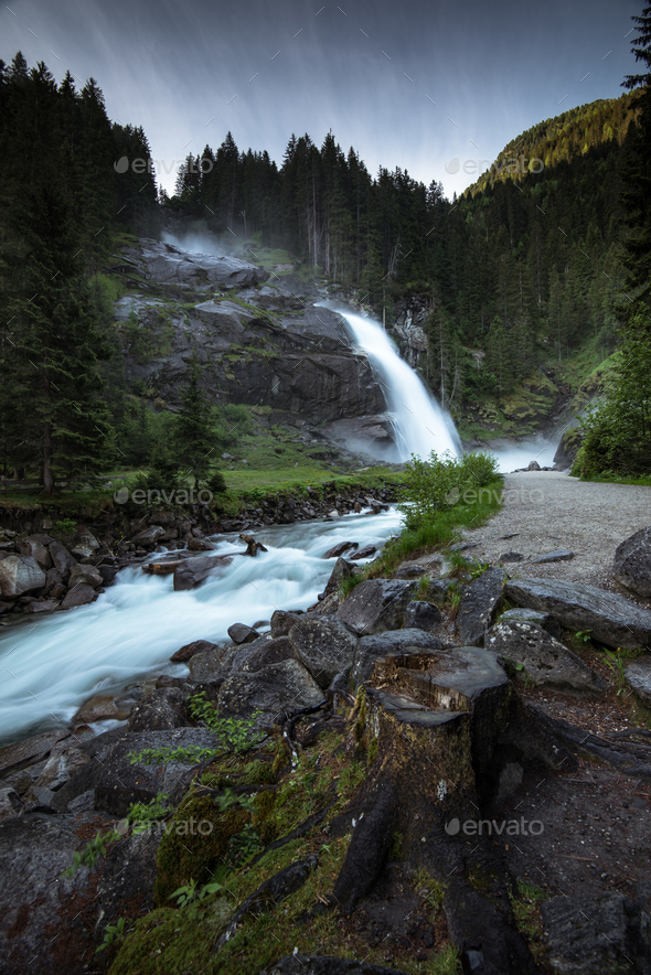Krimml Waterfalls in High Tauern National Park , Austria. - Stock Photo - Images
