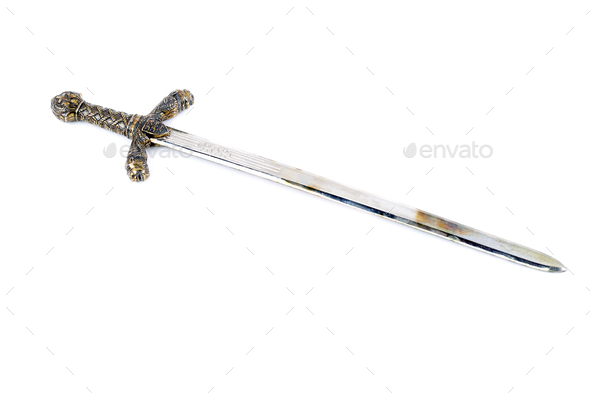 Sword on a white background  - Stock Photo - Images