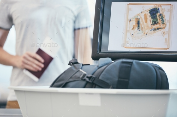 Airport security check - Stock Photo - Images