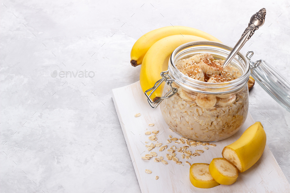 Overnight Oatmeal - Stock Photo - Images