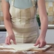 Woman Rolling Pizza Dough Using Rolling Pin. Woman Doing Homemade Pizza - VideoHive Item for Sale