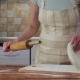 Woman Rolling Pizza Dough on the Kitchen - VideoHive Item for Sale
