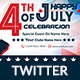 4th of July Twitter Header - 2 Design- Image Included - GraphicRiver Item for Sale