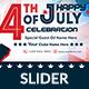 4th of July Web Slider - 2 Design- Image Included
