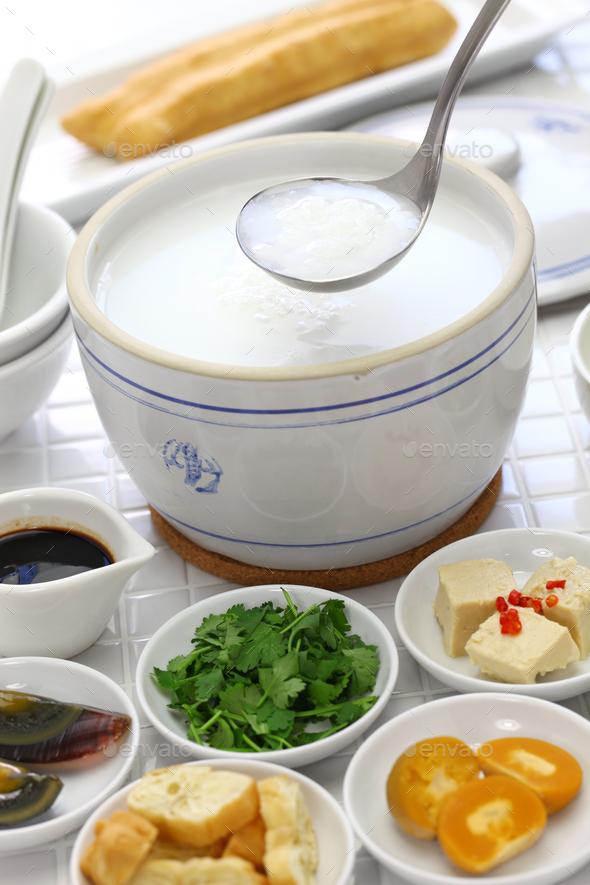 congee, chinese rice porridge - Stock Photo - Images