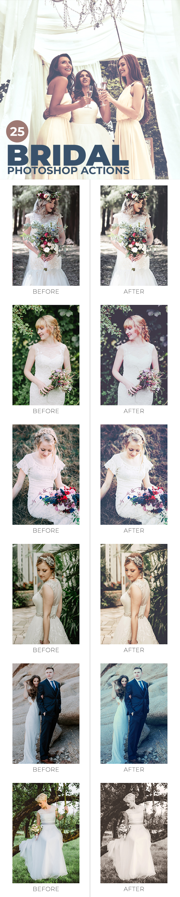 25 Bridal Photoshop Actions - Photo Effects Actions