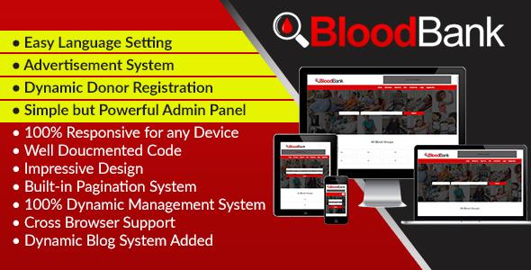 BloodBank - Dynamic Blood Bank Management Syestem and Directory Script