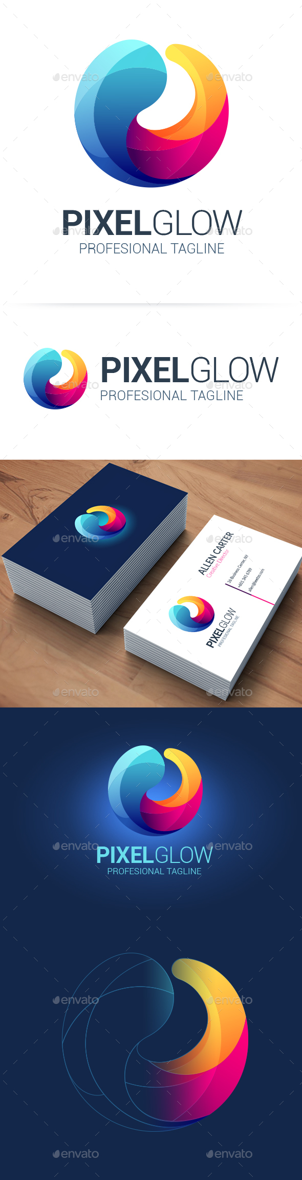 Dynamic Circle Logo - Abstract Logo Templates