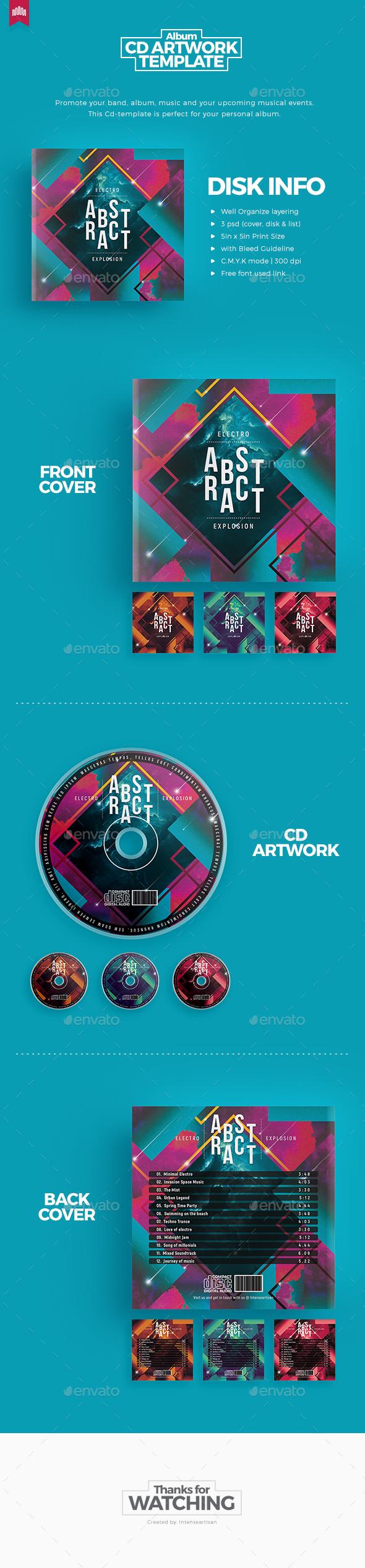Abstract Music - Cd Artwork - CD & DVD Artwork Print Templates