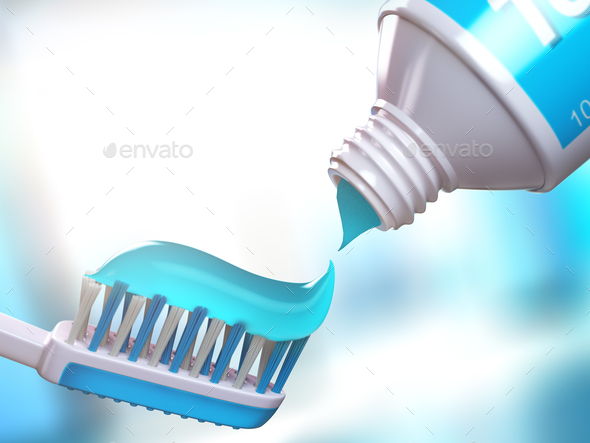 Toothbrush and tube of toothpaste. - Stock Photo - Images