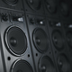 Multimedia  acoustic sound speaker system. Music  concept backgr - PhotoDune Item for Sale