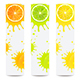 Banners with Juicy Citrus Fruits