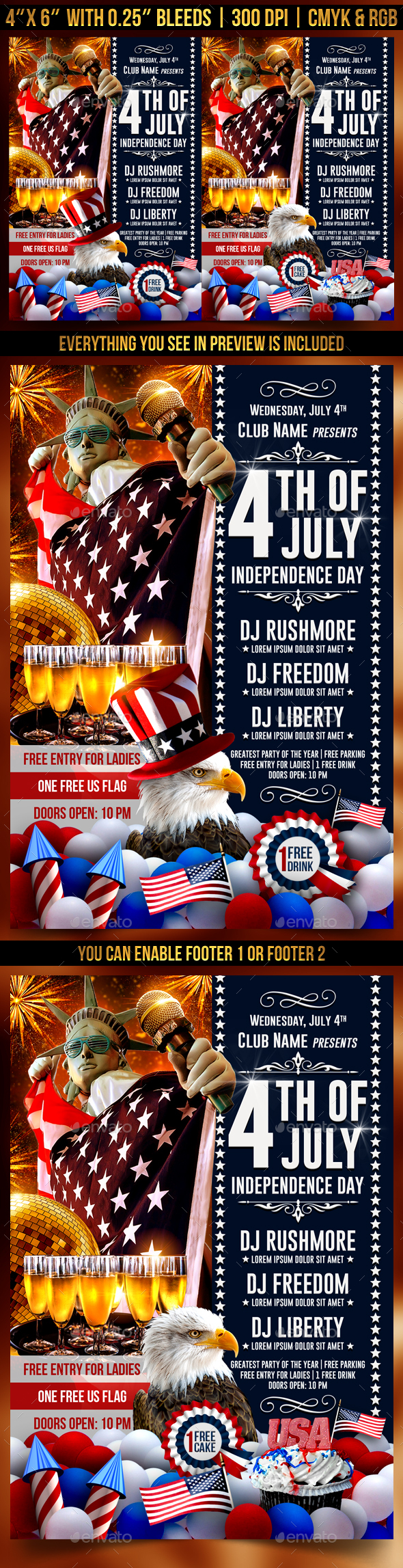 4th Of July Independence Day Flyer - Clubs & Parties Events