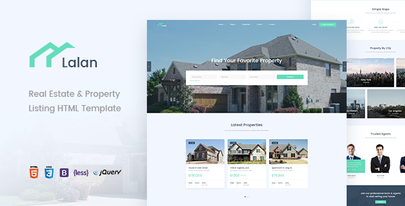 Image of Lalan - Real Estate & Property Listing HTML Template