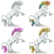 Set of White Unicorns - GraphicRiver Item for Sale