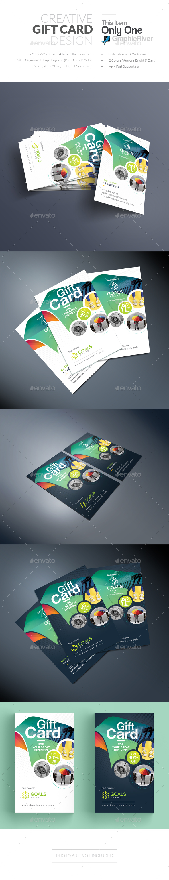 Gift Card - Stationery Print Templates
