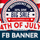 4th of July Facebook Banner - 4 Designs - GraphicRiver Item for Sale