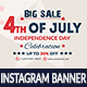 4th of July Instagram Banner - GraphicRiver Item for Sale