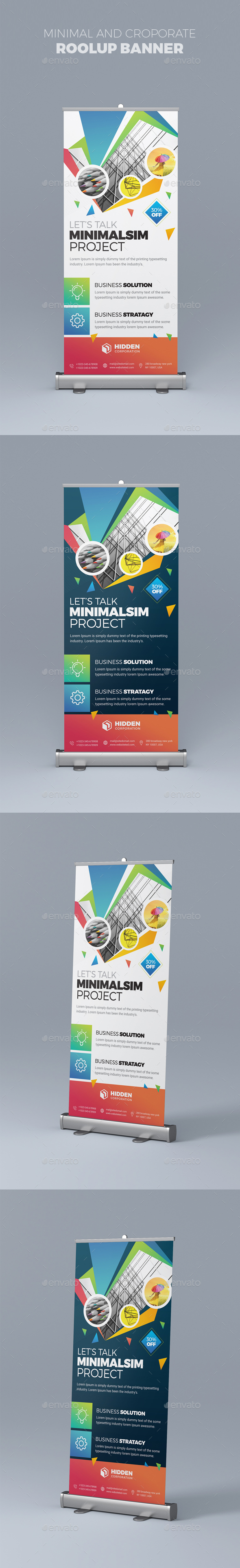 Roolup Banner - Stationery Print Templates