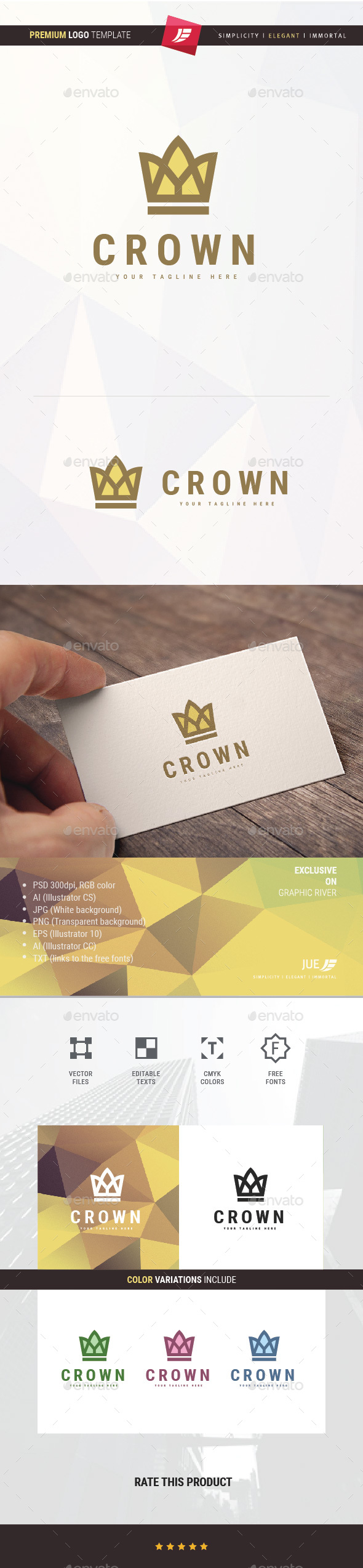 Crown Logo - Objects Logo Templates