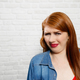 Facial Expressions Of Young Redhead Woman Closeup - PhotoDune Item for Sale