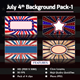 July 4th Background Pack-1 - VideoHive Item for Sale