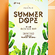 Summer Dope Flyer - GraphicRiver Item for Sale