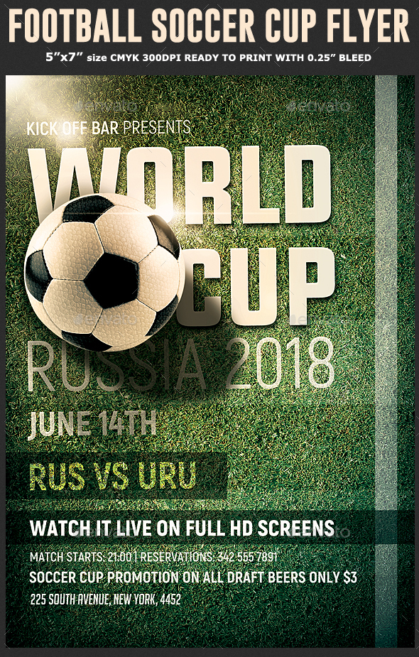 Soccer World Cup Flyer Template - Sports Events