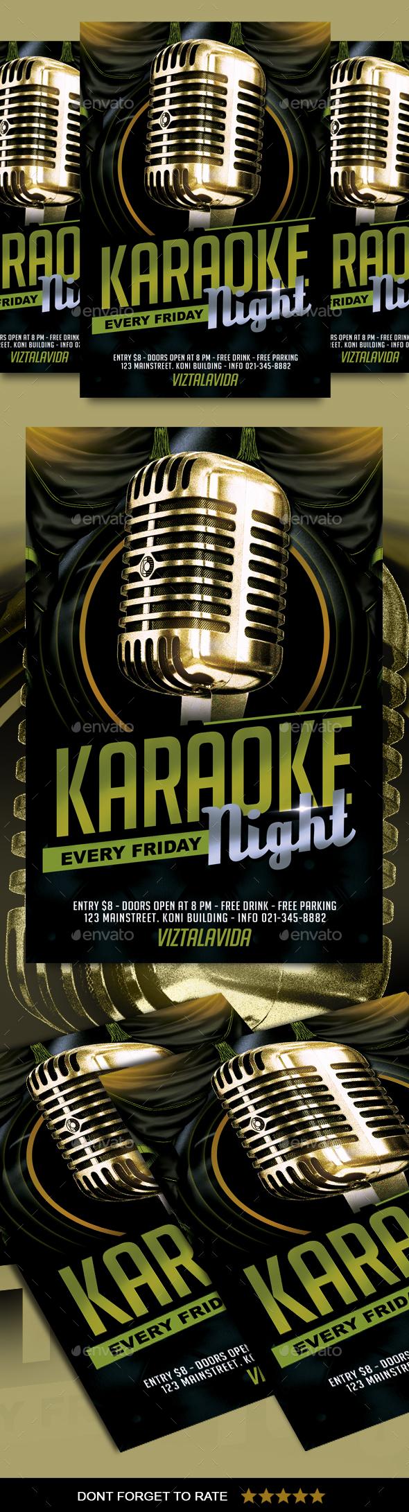Karaoke Flyer - Events Flyers