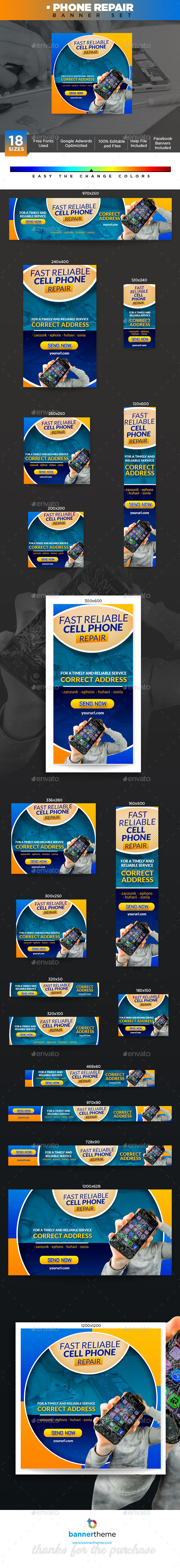 Phone Repair Banner - Banners & Ads Web Elements