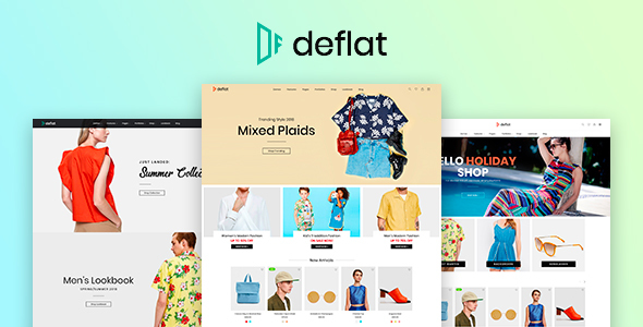 Deflat - Minimal eCommerce PSD Template - Shopping Retail