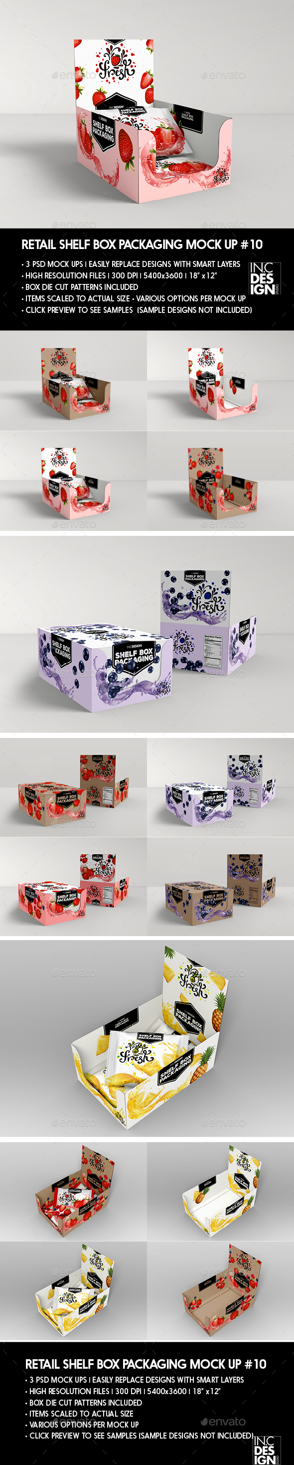 Retail Shelf Box Packaging MockUp No.10 - Miscellaneous Packaging