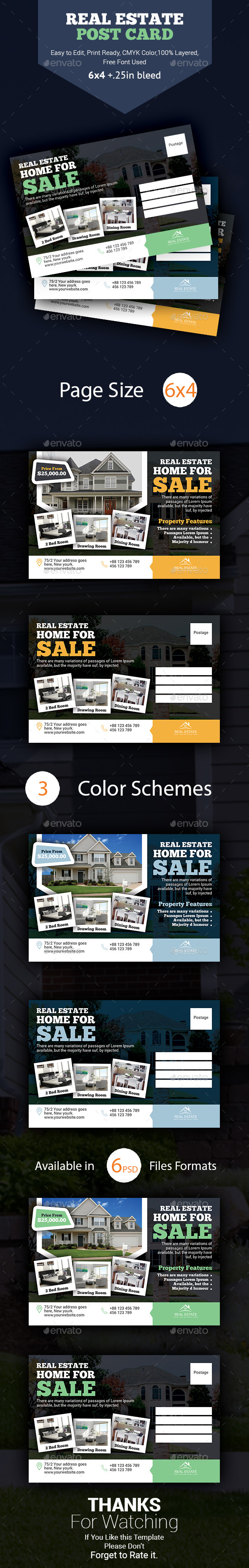 Real Estate Postcard Template - Cards & Invites Print Templates