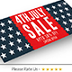 July 4th Sale Facebook Cover - GraphicRiver Item for Sale