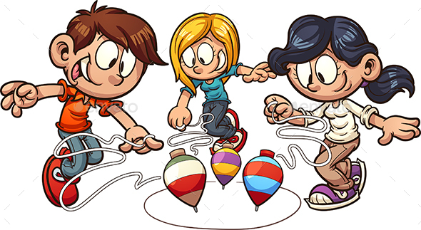 Spinning Top Kids - People Characters