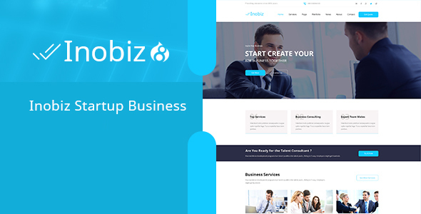 Inobiz - Startup Business and Agency Drupal 8 Theme