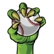 Claw Monster Hand Holding a Baseball Ball