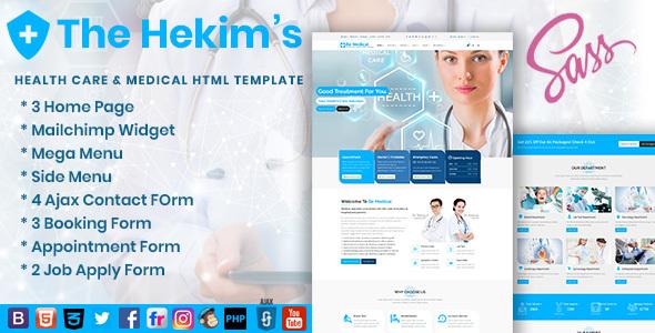 Hekim's Health Care & Medical Hospital HTML Template - Health & Beauty Retail