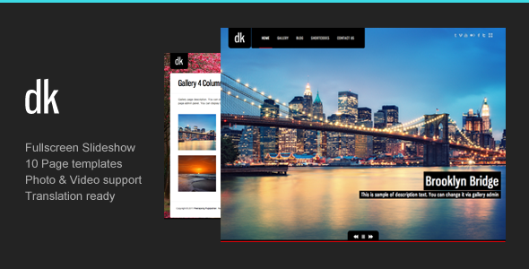 Photography WordPress | DK for Photography - Photography Creative
