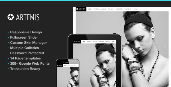 Photography WordPress | Artemis for Photography - Photography Creative