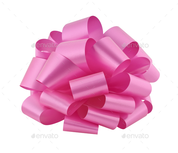 Pink Gift Bow - Stock Photo - Images