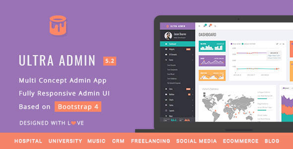 Image of Ultra Admin - Multi Concept Admin Web App with Bootstrap