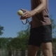 Man Training Forehand Shot in Sunlight - VideoHive Item for Sale
